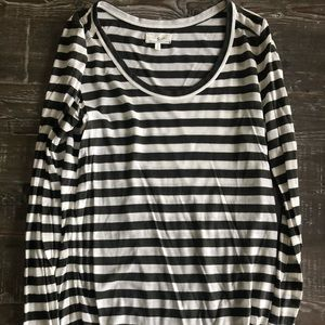 Lou & Grey long sleeve striped top- never worn